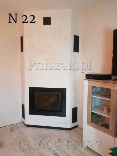kominek nowoczesny N 20 na bazie wkłladu Zibi 12